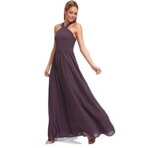 Lulus Purple Halter Long Maxi Dress L 10 12 New